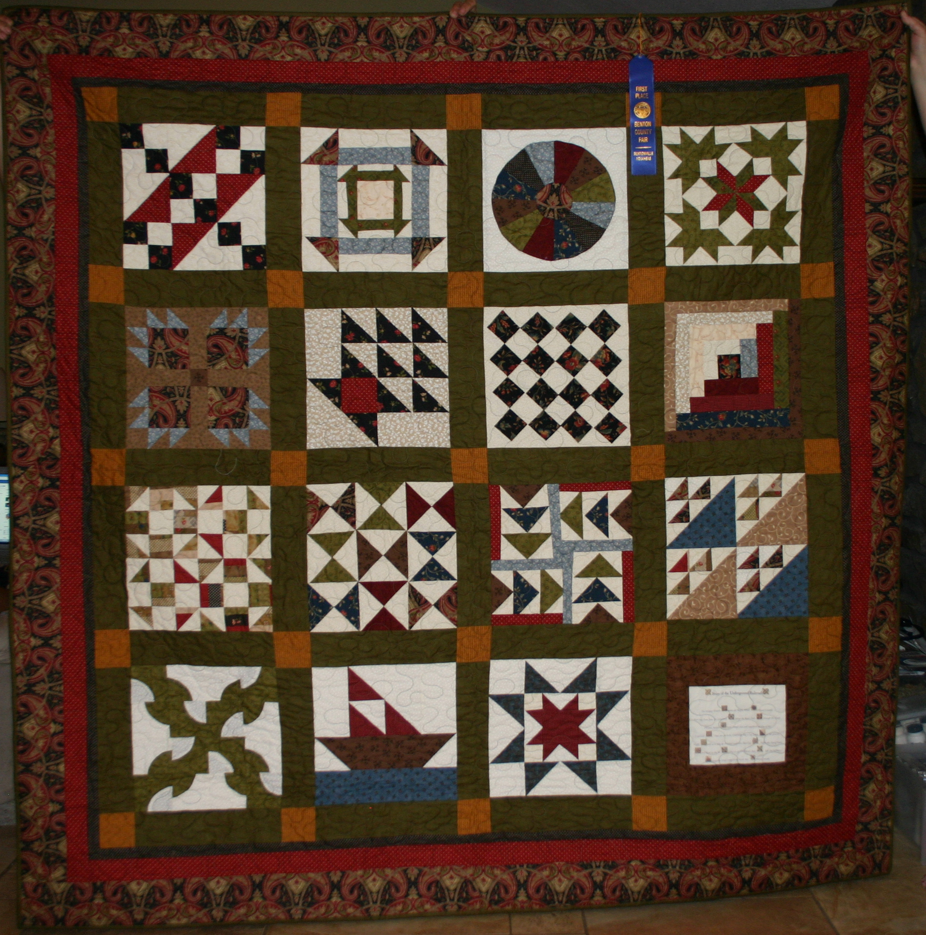 Quilt Patterns Used During The Underground Railroad : Underground Railroad Quilt Memories Quilted